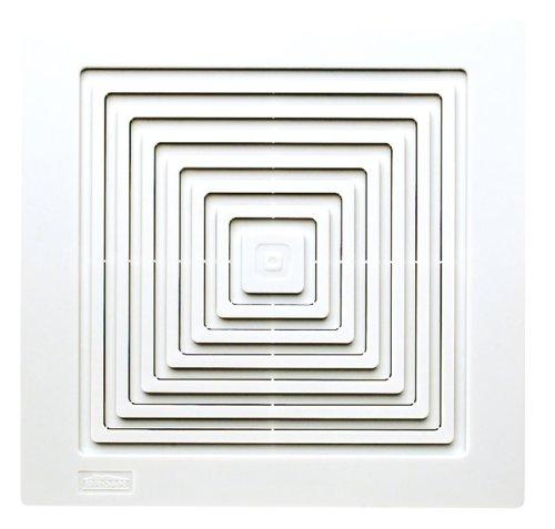 Broan Ventilation Fan, White Square Ceiling or Wall-Mount Exhaust Fan, 3.5 Sones, 50 CFM