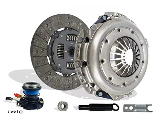 Clutch Kit And Slave Works With Ford F150 Pick Up Heritage XL XLT Lariat Base 1997-2000 4.6L V8 GAS SOHC 4.2L V6 GAS OHV Naturally