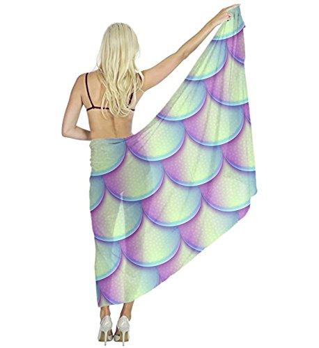 Mermaid Fish Scales Scarf for Evening Dresses, Wedding Shawl Wrap for Women by YESGOCO