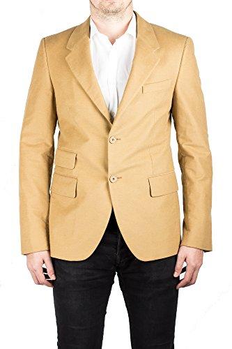 Prada Men's Notched Lapel Cotton Viscose Sport Jacket Coat Blazer Camel - Clothes Men For Prada