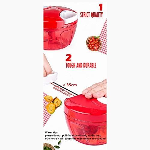 ZTTTD Easy Pull Food Chopper y Robot de Cocina Manual - Vegetable Slicer Held Mano Manual procesador de Alimentos