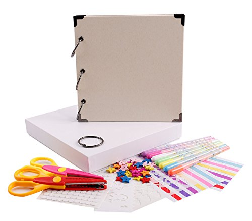 - FaCraft Vintage Scrapbook Kits Scrapbooking Album for Gift (White)