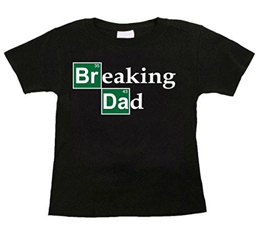 Bebe Bottle Sling Funny Toddler T-Shirt, Breaking Dad, Black 4T ()
