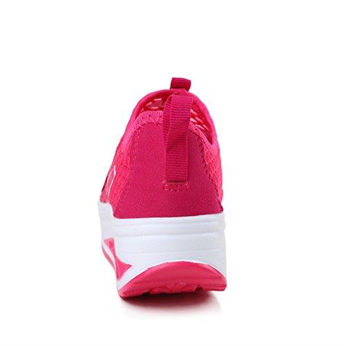 Annabelz Damesschoenen Voor Dames Slip Op Toning Schoen Fitness Wandelschoenen Work Out Sneaker Roseo1