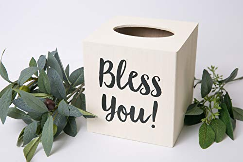 Bless You! Wood Tissue Box Cover (Traditional Tissue)
