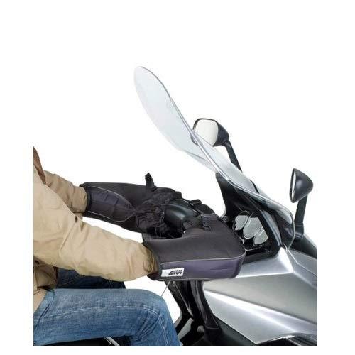 COMPATIBILE CON HONDA CB 500 F ABS COPRIMANOPOLE GIVI TM418 COPRIMANI IMPERMEABILE UNIVERSALE PER MOTO E SCOOTER PER MANUBRI SENZA PARAMANI NERO