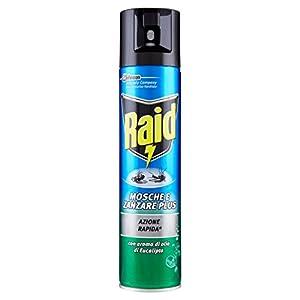 Raid Mosche & Zanzare Plus, Insetticida Spray, Profumazione Eucalipto, 1 Pezzo da 400 ml 12 spesavip