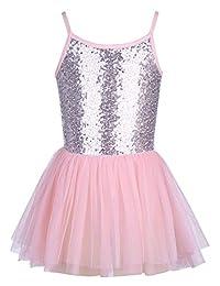 Balasha Little Girls Strap Tutu Skirted Leotard Glitter Ballet Dance Dress