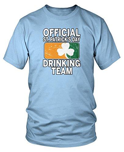 Amdesco Men's Official ST Patricks Day Drinking Team T-Shirt, Light Blue Medium (Team Drinking Light T-shirt)