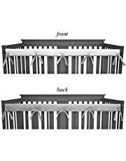 American Baby Company Reversible Crib Cover|For Long Rail, Gray/White