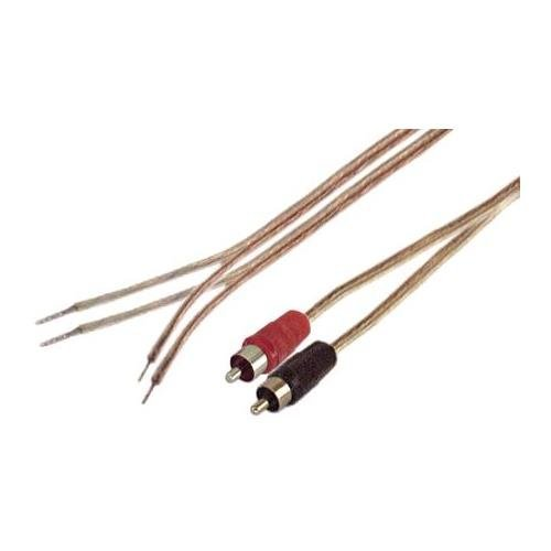 IEC 18 AWG 1-Feet Speaker Wire Pair with RCA Males - Black/Red ()