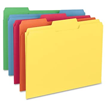 Amazon.com : Smead File Folder, 1/3-Cut Tab, Letter Size, Assorted ...