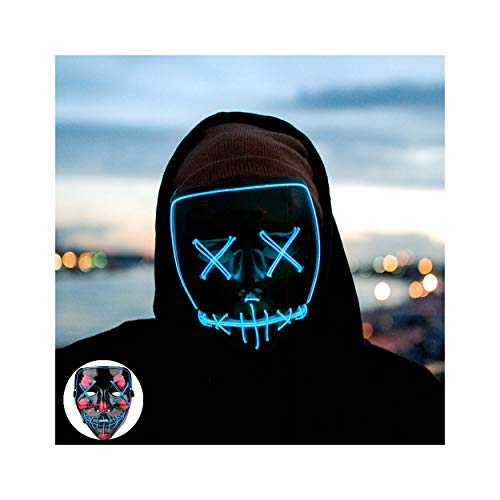 Light up Mask Led Mask Halloween Mask Led Mask Light up Mask Scary Mask for Festival Cosplay Halloween Costume Party