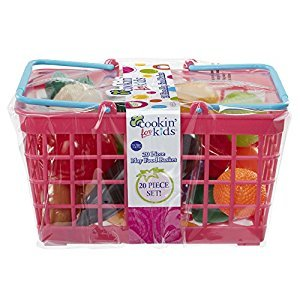 Cookin for Kids Grocery Basket, Pink