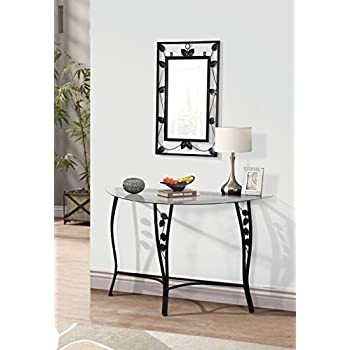 Home Source Florence Mirror & Chrome Console Sofa Table