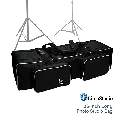 LimoStudio Photo Studio Equipment Large Carrying Case Bag with Strap for Tripod, Light Stand, Photo Lighting Bundle Kit, 36 inch Length, Padded Protection, Big Cushion Storage, Photography, AGG2480 by LimoStudio