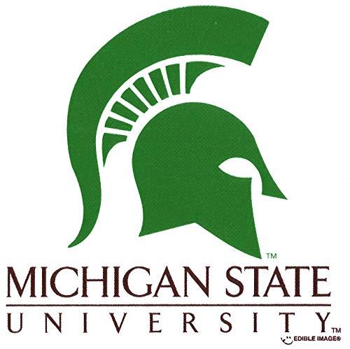 Michigan State University Spartans Logo Edible Cake Topper Image ABPID05336 - 1/4 sheet