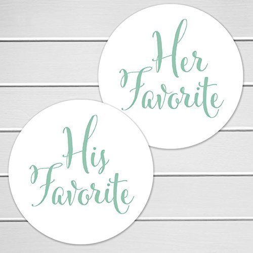 Amazoncom His Favorite Her Favorite Wedding Stickers Favorites