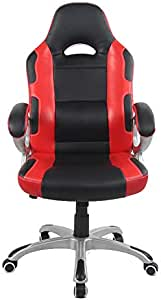Racoor Video Gaming Chair, Black and Red, H65 x W78.5 x D32 cm
