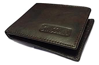 Dark Brown Color Mens fashion Leather Wallet Light Weight