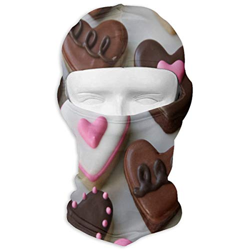 (Balaclava Valentineâ€s Day Sugar Cookies Full Face Masks UV Protection Ski Hat Womens Headcover for Sports)