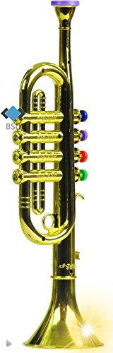 Trompette avec 4 soupapes colorées - première trompette pour vos enfants - or