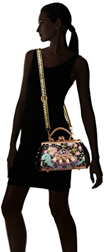 Black Bag Floral Black Sayin Handle Irregular Top Jus Women's Choice Bag TwvAAqI8x