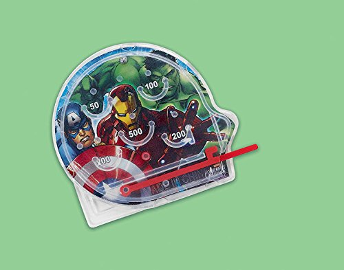 Amscan Avengers Birthday Party Mini Pinball Game Favor, 2 1/4