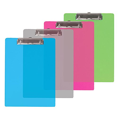 Bazic Standard Size Plastic Clipboard (Pack Of 48)
