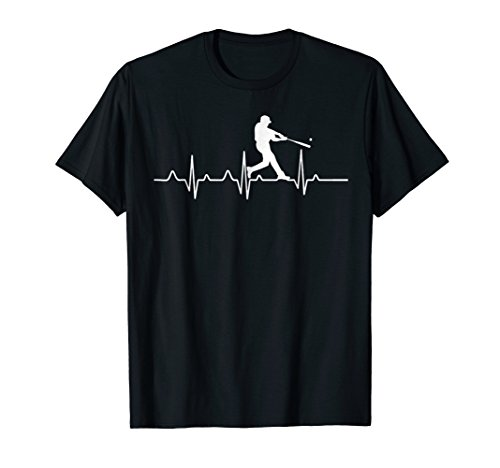 (Baseball Heartbeat T-Shirt For Players and Coaches)