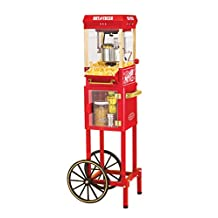 Nostalgia KPM200CART Old Fashioned Kettle Popcorn Maker Cart, Red