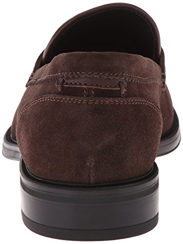 Aquatalia Mens Neil Slip-on Mocassino Marrone Scuro