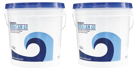 Boardwalk HURACAN40 Low Suds Industrial Powder Laundry Detergent, Fresh Lemon Scent, 40lb Pail (2-(Pack))