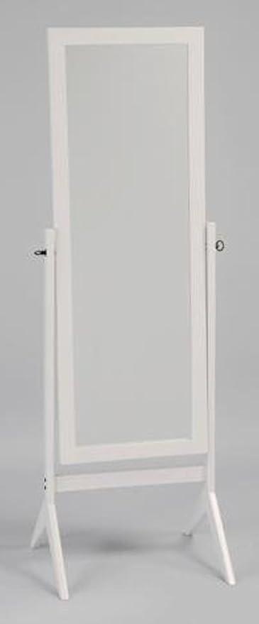 Amazon.com: Legacy Decor White Finish Wood Rectangular Cheval Floor ...