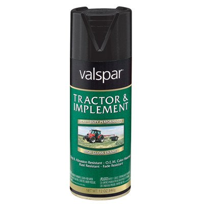 Valspar 18-5339-16 SP 12 Oz Gloss Black Tractor & Implement Enamel - Implement Enamel Spray