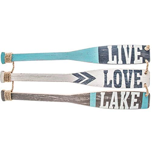 TNS STORE Live, Love, Lake Paddle Wood Wall Decor Sign for sale  Delivered anywhere in USA