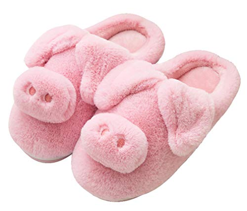 Slippers Womens Warm Cute 2 Indoor Slipper Pink Home Animal Fuzzy 7q4tqp