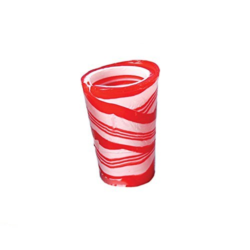Edible Peppermint-Flavored 2 Oz. Candy Cane Festive Christmas Shot Glass ()