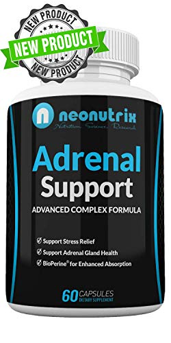 Neonutrix Adrenal Support - Cortisol Management Pills - Stress Relief Formula with Complex of Vitamin C, B6, Ashwagandha Root & L-TYROSINE- Fatigue Supplement Specially for Men and Women- 60 Capsules