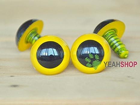 Amazon.com: TOAOB 150pcs 12mm Black Plastic Safety Eyes Crafts ... | 350x466
