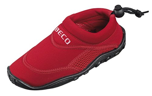 BECO Badeschuhe / Surfschuhe für Damen und Herren rot 37