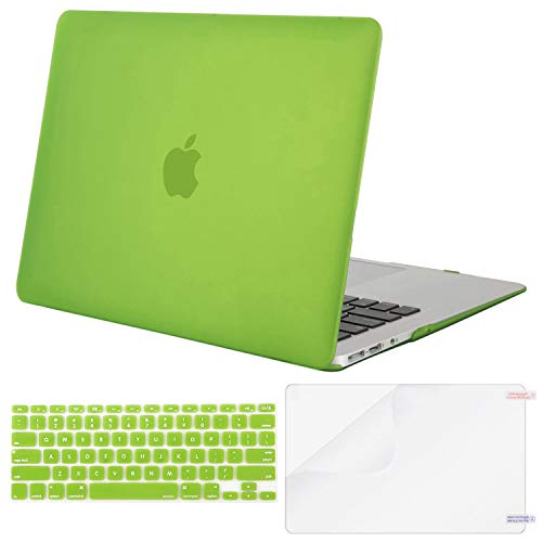 - MOSISO Plastic Hard Case & Keyboard Cover & Screen Protector Only Compatible MacBook Air 13 Inch (Models: A1369 & A1466, Older Version 2010-2017 Release),Translucent Greenery