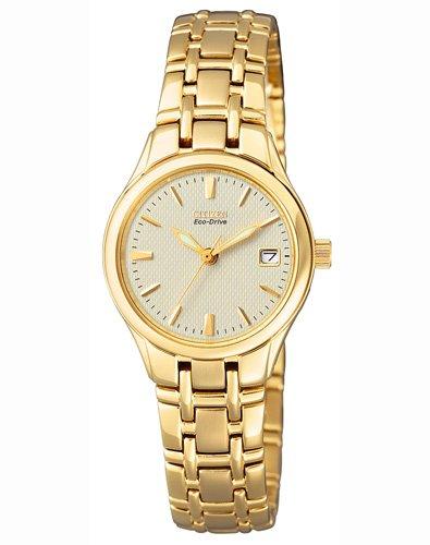 Citizen EW1262-55P - Reloj analógico de cuarzo para mujer, correa de acero inoxidable