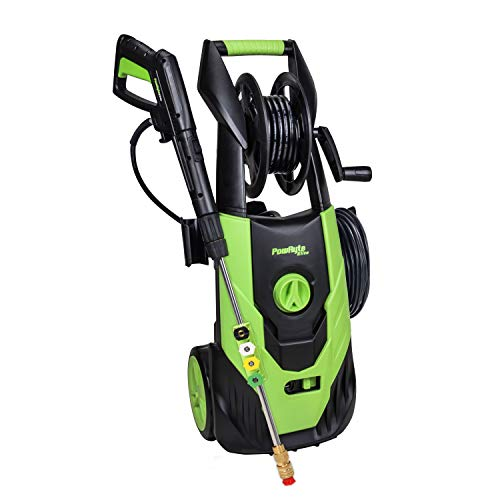 PowRyte Elite 2100 PSI 1.80 GPM Electric Pressure Washer, Electric Power Washer with Hose Reel, 5 Quick-Connect Spray Tips, Onboard Detergent Tank (Pressure Wash Machine, Pressure Cleaner, Car Washer)