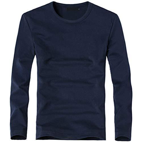 NISO p Men's Outdoor Sport V-Neck/O-Neck Long Sleeve T-Shirt Tees Elastic T Shirt Business Man -