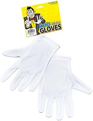 Short Black Magicians Gloves Fancy Dress COstume Accessory Adult