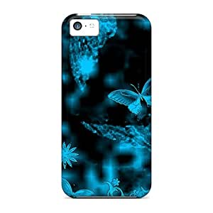 Iphone 5c Abstract Nature Print High Quality Tpu Gel Frame Case Cover