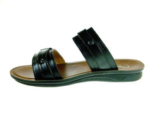 Slip 28523 Sandals Black Majestic Mens Majestic on Classic Mens wXttqvxTg