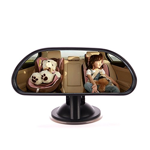 Cara Baby Rear View Mirror - Car Rear Seat View Mirror Wide Angle Shatterproof Adjustable Baby Child Safety Seat Mirror with Suction Up
