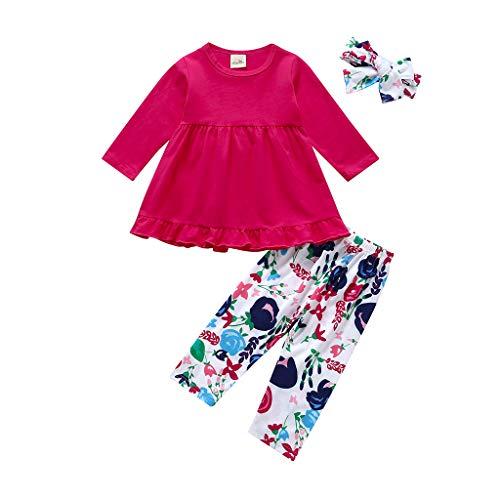 - Kids Girls Dress Outfits Winter Tunic Dress Pants Set Long Sleeve Shirt Headband Spring Clothes